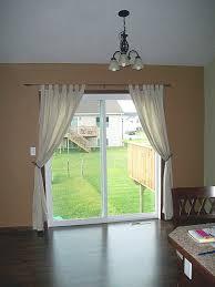 should drapes touch the floor choose the sliding door curtains u2014 derektime design