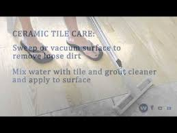 ceramic tile flooring care and maintenance