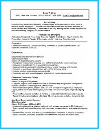 Resume Accounting Graduate Functional Resume Student Example Robert Abrams Resume