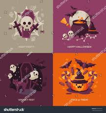 set halloween concepts vector illustration orange stock vector