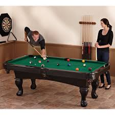 triumph sports 7 ft billiard table with bonus table tennis top