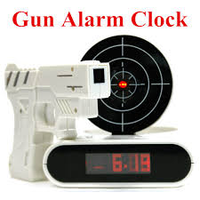 cool home products gun alarm clock cool tech gadget lcd digital alarm clock creative