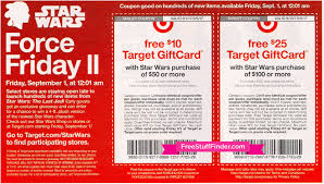 free 10 target gift card with 50 star wars purchase huge in