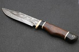 bowie knives damascus outlet hand forged knife damascus knife ebony wood handle rose wood handle