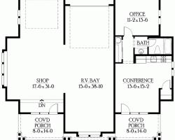 floorplan for shop with living quartersgarage quarters above plans