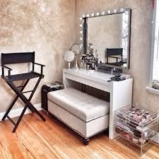 modern vanity table with mirror and stool the new way home decor