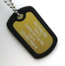 personalized dog tag necklace 1 personalized dog tag necklace vertical wording gold with black