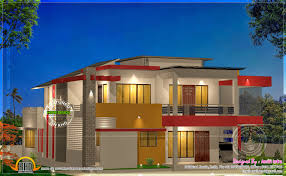 modern home design 4000 square feet modern 4 bhk house plan in 2800 sq feet modern house plans free