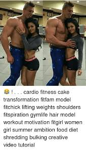Woman Lifting Weights Meme - 1012te id12 e cardio fitness cake transformation fitfam model