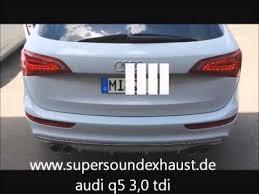 audi q5 3 0 tdi chip tuning audi q5 3 0 diesel tdi edelstahl sportauspuff exhaust sound