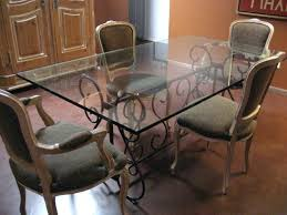 wrought iron dining table glass top wrought iron base dining table grace collection wrought iron table
