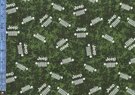 jeep dark green jeep ivory jeep logos on mottled green and dark green background