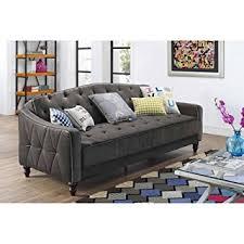 Buy Sofa Sleeper 9 By Novogratz Vintage Tufted Sofa Sleeper Ii Grey