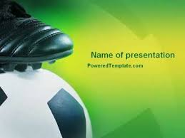 football and football boots powerpoint template by poweredtemplate