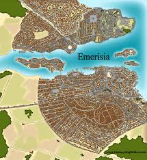 Fantasy Maps Emerisia Fantasy City Map