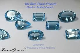 light blue semi precious stone sky blue topaz round oval cushion pear octagon and others