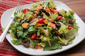 taco salad with catalina dressing