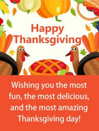 time for the big meal thanksgiving card when we think