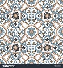 traditional italian ceramic ornate neutral beige stock vector