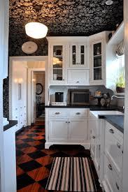 Interiors Of Kitchen A Black And White Cottage Kitchen