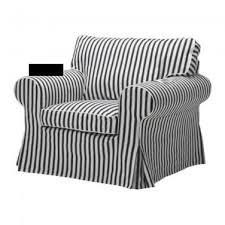 Ikea Ektorp Armchair Cover Ektorp Armchair Slipcover Cover Vallsta Black And White Stripes