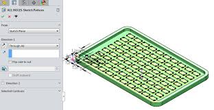 solidworks linear pattern how to choose between a feature pattern and a sketch pattern