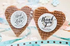 popular wedding favors stroopwafels most popular wedding favors 2018 gourmet wedding gifts