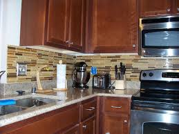 Red Kitchen Backsplash by Kitchen Cream Kitchen Backsplash With Glass Tiles Home Design And