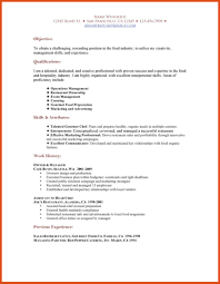 Experience In Resume Example by Catering Assistant Cover Letter