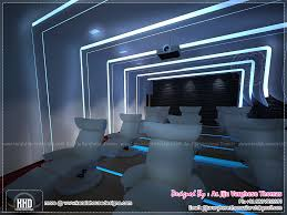 home theater interior design ideas home theater and spillover space interiors home kerala plans