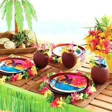 luau table centerpieces lovely hawaiian table decoration summer hawaiian luau table
