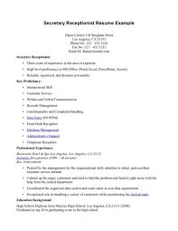 exle of cv cover letter cover letter receptionist exle cover letter tips for