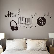 musical home decor mm15 beat note music wall art stickers vinyl wall stickers music