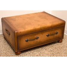 Map Coffee Table Faux Leather Trunk Coffee Table With Map Design 1 Decorating