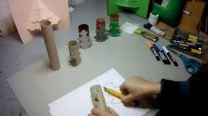 creation avec des rouleaux de papier toilette tutoriel activité manuelle enfants sapins de noël avec rouleaux de
