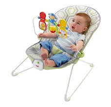 Babies R Us Vibrating Chair Baby Bouncer Geo Meadow Fisher Price Toy Bar Seat Vibrate Nap Play