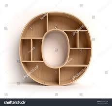 Letter Shelf Shelf Font 3d Rendering Letter O Stock Illustration 529507036