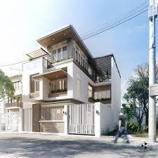 modern house exterior fresh house 3d 02 nvus designs