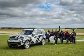 galaxy range rover watch bear grylls jump out of a plane to test land rover u0027s new