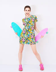 colorful dress fashion vogue model in colorful dress with stock image image of