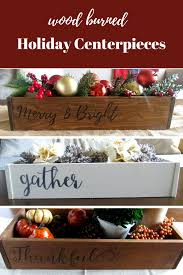 Where To Buy Fall Decorations - handmade woodburned holiday centerpieces available now click to