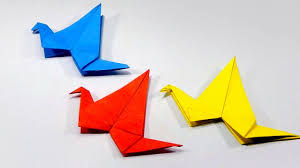 how to make an origami bird very easy and simple steps for kids