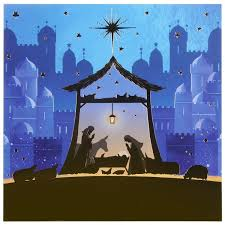 paperlink nativity pack of 6 cards charity pack
