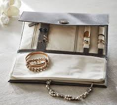 travel jewelry case images Mckenna leather travel jewelry portfolio pottery barn jpg