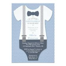 gentleman baby shower gentleman baby shower invite blue gray card zazzle