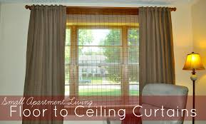 Window Treatments For Small Windows by Small Apartment Living Floor To Ceiling Curtains To The Heights