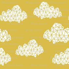 geo clouds mustard yellow gender neutral geo cloud