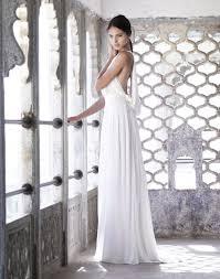 Grecian Wedding Dresses Draped Grecian Gown Amanda Wakeley 118 Deco Weddings