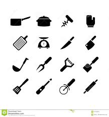 outil cuisine icône d outil de cuisine illustration stock illustration du grille