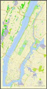 map of manhattan manhattan pdf map new york exact vector g view level 17